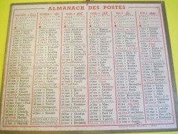Almanach Des Postes /Sans Illustration/Recto-Verso/Oberthur / Rennes -Paris /1949     CAL342 - Grand Format : 1941-60
