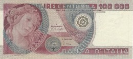 ITALY 100000 LIRE 1978 P-108a XF SIGN. BAFFI & STEVANI [ IT108a ] - [ 2] 1946-… : République