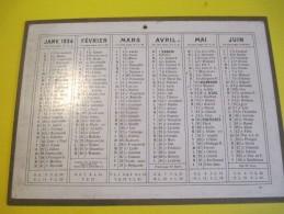 Calendrier Moyen Format /Sans Illustration/Recto-Verso/Imprimeur ?/1934     CAL335 - Kalender
