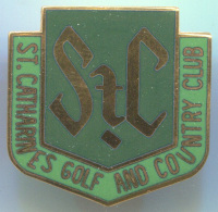 GOLF And COUNTRY CLUB, ST.CATHARINES - Enamel, Pin Badge, Abzeichen - Golf