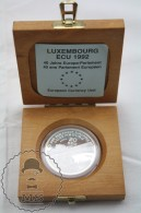 1992 Luxembourg Proof Silver 20 ECU Coin - Charles IV Roman Emperor - 09. Ecus
