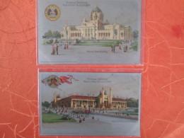 OFFICIAL SOUVENIR WORLD FAIR . ST LOUIS 1904 . MISSOURI STATE BUILDING  ET PALACE OF MINES - Etats-Unis