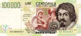 ITALY 100000 LIRE 1994 P-117a UNC SIGN. FAZIO & SPEZIALI [ IT117a ] - 100.000 Lire