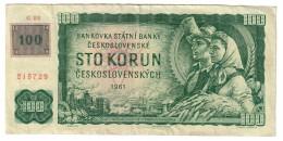 Czech Republic 100 Korun Provisional Issue 1993 - Repubblica Ceca
