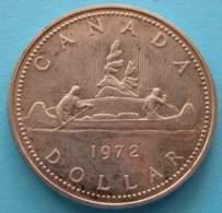 CANADA - 1 Dollaro Argento 1972 Canoa Argento - Canada