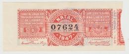 Lottery Ticket - Portugal - 1947 - Natal - Biglietti Della Lotteria