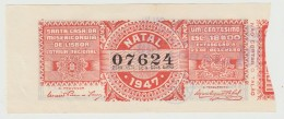 Lottery Ticket - Portugal - 1947 - Natal - Billetes De Lotería