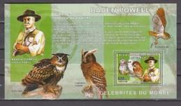 Congo 2006,1V In Block,owls,uilen,Baden Powell,birds,vogels,vögel,oiseaux,pajaros,uccelli,aves,MNH/Postfris(L2606) - Non Classés