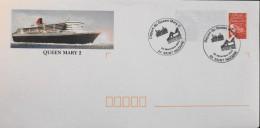 FR 2003 - Départ Du Queen-Mary II De St-Nazaire - Entier Postal N° 3083-E2 ( 220x110) Oblitéré Le 22.12.2006 - Parf. Et. - Ganzsachen