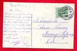 Cachet  Hayingen ( Hayange)  Du 02.04.1912 Sur CP Bouquet De Fleurs - Storia Postale