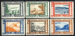 Regno PA 1933 Serie N. 45A-50A Crociera Zeppelin MVLH* Catalogo € 160 - Poste Aérienne