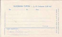 48735- PLANE, TRAIN, BRIDGE, CONSTRUCTIONS, WORKERS, TELEGRAMME, UNUSED, 3 PARTS FOLDED, ROMANIA - Télégraphes