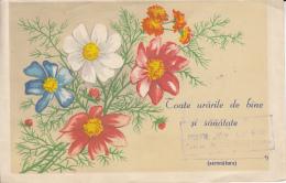 48738- FLOWERS, TELEGRAMME, 1961, ROMANIA - Télégraphes