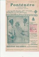 "PARTITION MUSICALE - PONTENERO -PASO-DOBLE "" LE CAPITAINE CRADDOCK "" EDITIONS SALABERT - Partitions Musicales Anciennes"