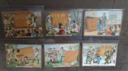 Série De 6 Chromos Image - PETIT BEURRE DANS LE MONDE - Lefèvre Utile - Vers 1900 - Biscuit LU /72 - Lu
