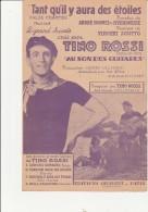 PARTITION MUSICALE -  TANT QU'IL Y AURA DES ETOILES - TINO ROSSI - VALSE CHANTEE - Scores & Partitions