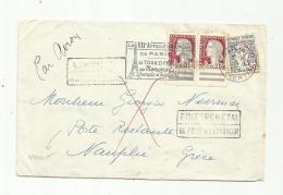 Paire De Marianne De Decaris Sur Lettre En Poste Restante Pour La Grèce Avec Retour à L´envoyeur - 1961-....