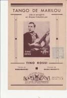 PARTITION MUSICALE -  TANGO DE MARILOU - TINO ROSSI -  SUR  DISQUE COLUMBIA - Spartiti