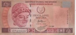 (B0586) CYPRUS, 1997. 5 Pounds. P-58. XF - Chypre