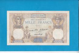 FRANCE  1 000 FRANCS CERES ET MERCURE DU 24.09.1931 REF ST90916 - 1871-1952 Anciens Francs Circulés Au XXème