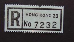 Hong Kong - Registration Label Hong Kong 23 - Look Scan - Otros