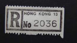 Hong Kong - Registration Label Hong Kong 13 - Look Scan - Otros