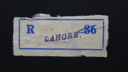Pakistan - Registration Label Lahore - Look Scan - Pakistan