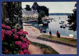 29 COMBRIT STE-MARINE Le Port ; Hortensias, Canots, Voiliers - Animée - Combrit Ste-Marine