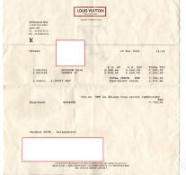 FACTURE MAROQUINERIE Louis Vuitton  MAI 2001 286 - Non Classés