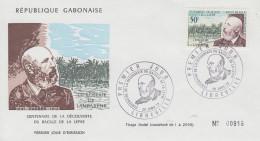 Enveloppe  1er  Jour  GABON   HANSEN   Centenaire  Découverte  BACILLE  De  La  LEPRE   1973 - Disease