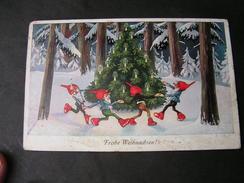 Zwerge Weinachtsbaum  , Bonn Mit Lochung Der Marke 1926 Kl. Mängel - Künstlerkarten