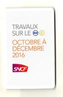 PLAN SNCF Travaux Sur Le RER C  Octobre à Décembre 2016 - Europe