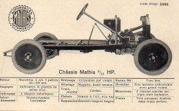 STRASBOURG  AUTOMOBILES MATHIS  Châssis Mathis 8/10 HP - Strasbourg