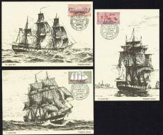 1983  Navires Historiques  Oblitér. Frégatte Jylland Au Port D'Ebeltoft - Cartoline Maximum