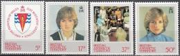 British Antarctic Territory 1982 Michel 94 - 97 Neuf ** Cote (2005) 3.60 Euro 20ème Anniversaire De Princesse Diana - Territoire Antarctique Britannique  (BAT)
