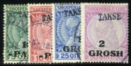 Albania, 1914. Scott #J6-J9. Stanley Gibbons #D46-D49. Fine Used. - Albania