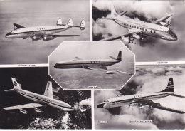 Bc - Cpsm Grand Format Avions (constellation, Viscount, Boeing 707, Bristol Britannia, Comet 4) - 1946-....: Ere Moderne