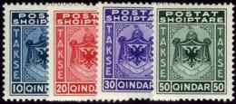 Albania, 1930. Scott #J35-J38. Stanley Gibbons #D288-D291. Set Of Four, Very Fine Mint. - Albania
