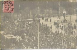 AVRANCHES Inauguration Du Tramway Carte Photo Expédiée  18-4-1907 Quelques Jours Après L´inauguration - Avranches