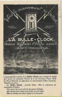 BOULOGNE S/SEINE Cie GLE Des APPAREILS HORO-ELECTRIQUES Publicité LA BULLE-CLOCK - Boulogne Billancourt