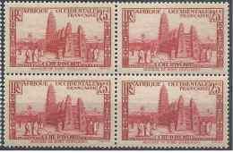 1936-38 COTE D´IVOIRE 116* Mosquée, Bloc De 4, Gomme Altérée - Ongebruikt