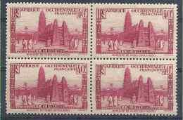 1936-38 COTE D´IVOIRE 118* Mosquée, Bloc De 4, Gomme Altérée - Ongebruikt