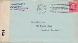 1916 Opened By Censor Cover Memphis M/c Cancel Washington 2c Stamp To UK - United States