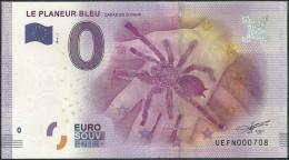 Billet Touristique 0 Euro  2016 EPUISE    Le Planeur BLEU  Araignée De Guyane - EURO