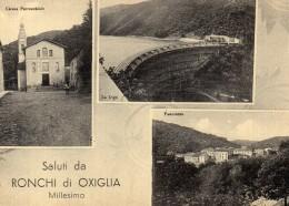 CARTOLINA DI RONCHI DI OXIGLIA -SAVONA- MULTIVEDUTE ANNI 50 NON VIAGGIATA - Savona