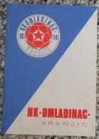 NK OMLADINAC VRANJIC 1914-1974 - Libros