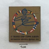 Badge (Pin) ZN002661 - Ice Figure Skating Italia (Italy) Pinzolo 5th Europe Cup 1993 - Skating (Figure)