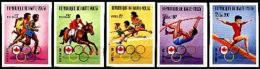 Upper Volta, 1976, Olympic Summer Games Montreal, MNH Imperforated, Michel 617-621B - Obervolta (1958-1984)