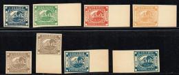 Buenos Aires, Michel# 1 - 5, 7 + 8 (*) Neudruck Dickes Gelbes Papier / Evtl. Fälschung - Buenos Aires (1858-1864)