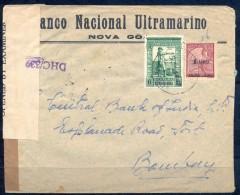 1943 , INDIA PORTUGUESA , NOVA GOA - BOMBAY , SOBRE CERTIFICADO , CENSURAS - Portuguese India